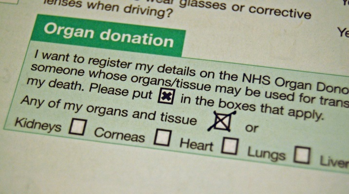 List yourself as an organ donor