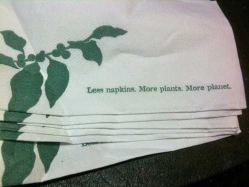 Use fewer napkins
